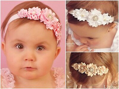 Baby Headbands Headband Flower Girl Newborn Toddler Hair Band Christening Halo