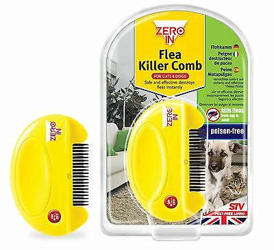 ZeroIn Flea Killer Comb Dogs Cats Humane Poison Free ZER023