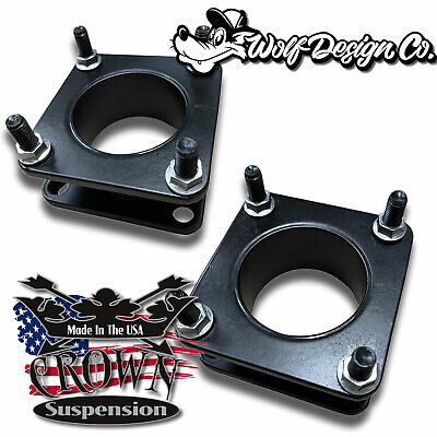 """2007-2017 Toyota Tundra Steel Front 2.5"""" Suspension Leveling Lift Strut Spacers"""