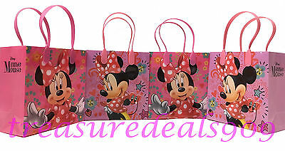 6 pc disney minnie mouse goodie bags party favors candy loot treat