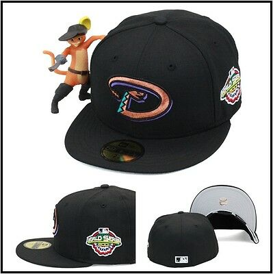 New Era Arizona Diamondbacks Fitted Hat 2001 World Series Side Patch MLB  59fifty 1a23b042686
