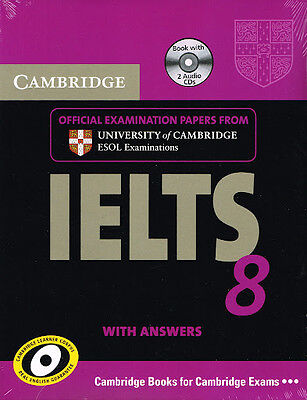 Cambridge IELTS 8 Book & CD's Set ESOL Examination Papers with Answers @NEW@