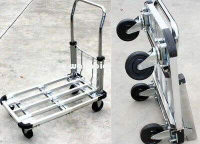 "Aluminum 28"" Flat Moving Sturdy Extendible Compact 220 Lb Hand Cart Truck Dolly"