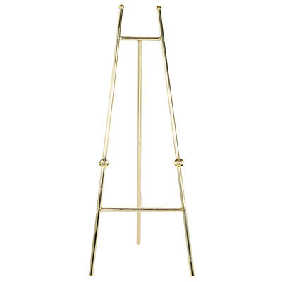 New 60 Decorative Display Easel Brass Finish