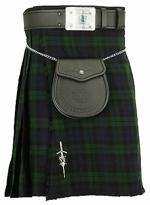 Mens Scottish Kilt Blackwatch  Tartan Traditional Highland dress Skirts