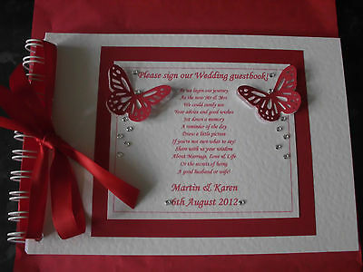 Personalised Wedding Package Guest Book Chocolate Love Hearts Place Card Scrolls