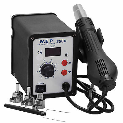Hot Air Gun Soldering Rework Station Desoldering Unsoldering Kit LED Display New