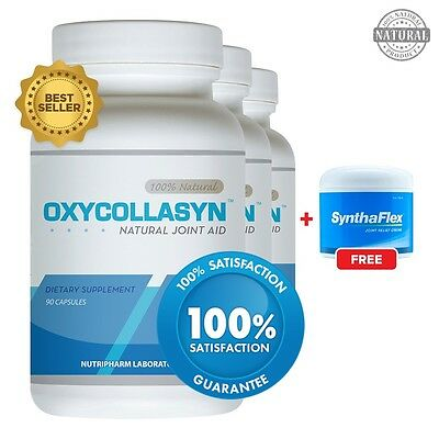 Oxycollasyn 3 pack & 1 Free Synthaflex (4oz) - Joint Pain Relief