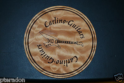 Laser Engaved Bar Drink Coasters, Name/Logo Engraved in Tiger or Quilted Maple