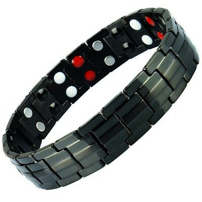 Anion Magnetic Energy Germanium  Power Bracelet Health 4in1 Bio Armband TITANIUM