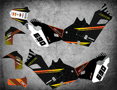 Custom Graphics Full Kit to Fit KTM 690 Rally FACTORY STYLE stickers decals
