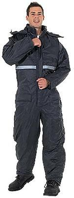 Endurance waterproof padded coverall, one-piece quilted lined thermal suit,