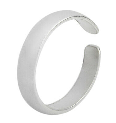 Sterling Silver Toe Ring SS Body Jewelry Flexable adjustable band size