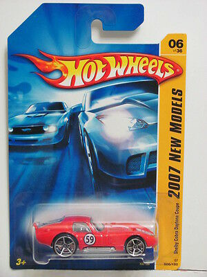 Hot Wheels 2007 New Models Shelby Cobra Daytona Coupe Red
