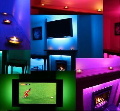 Ambient Mood Lighting Colour Changing Backlights Sound Responsive Led Tv Light
