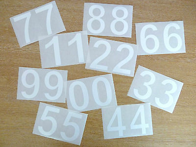 71mm White Sticky Vinyl Numbers Self-Adhesive Stickers Plastic Stick on Labels