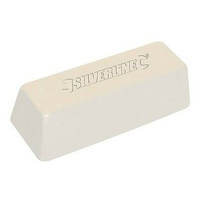 Silverline White Polishing Compound - Buffing Soap For Steel & Iron 500g bar