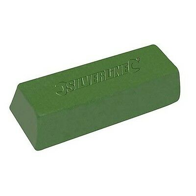 Silverline Green Polishing Compound For Hard & Soft Metal - Buffing Soap 500g