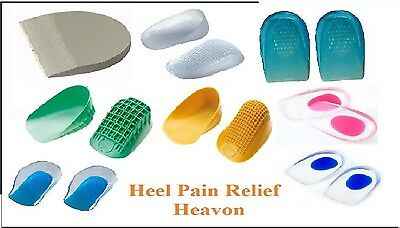NEW Heel Support Pad Cup Spur Gel Silicone Shock Cushion Orthotics Shoe Insoles