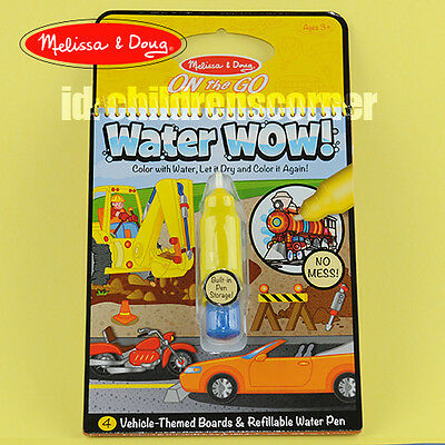 Just Arrive! Melissa & Doug Water WOW! No Mess - Activity Book -Vehicle #5375