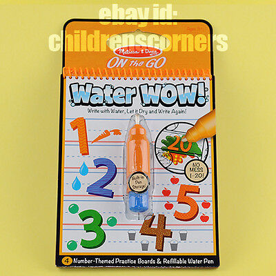 Just Arrive! Melissa & Doug Water WOW! No Mess - Activity Book -Numbers #5399
