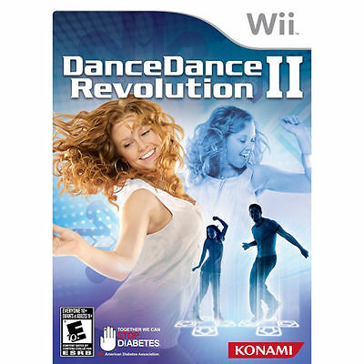 DDR DANCE DANCE REVOLUTION II 2 (GAME ONLY) Nintendo Wii Kids/Family SEALED NEW!