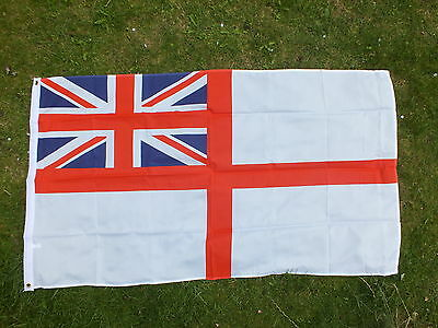 White Ensign Flag. Royal Navy Boat Yacht Football UK RN Armed Forces Day Veteran