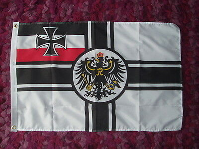 German Imperial Flag Kaiser Wilhelm 2x3 Naval 2nd reich WW1 Empire Deutsche bnip