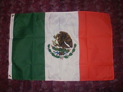 Mexican Flag 3x2 Mexico City Catholic Hispanic Spanish Acapulco Tacos Chilli bn