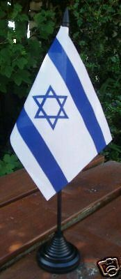 Israeli Desk Top Flag Israel Jewish Zionist Jew Zionism Holy Land Jerusalem bn