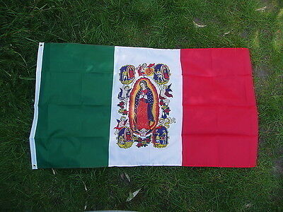Our Lady of Guadalupe Flag. Mexico Roman Catholic Pro-Life Virgin Mary 5x3 bn