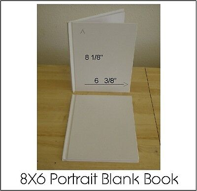 All Plain Blank White Hard Cover Student Books To Self Illustrate 8X6 (28) Pgs.