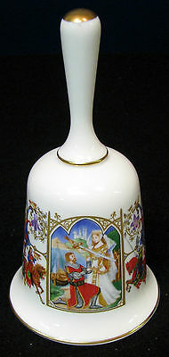 "5 in.The  Romance of Camelot ""Arthur Receives Excalibur"" bone china bell"