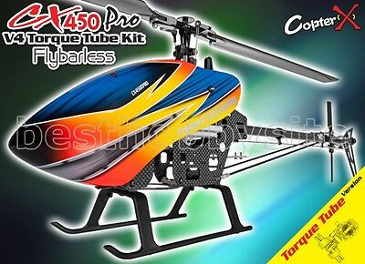 CopterX CX 450PRO V4 Flybarless Torque Tube Kit T-rex Trex 450 PRO Helicopters