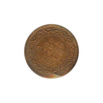 Canada- George V - Large Cent 1917 CH. UNC - ICCS Certified
