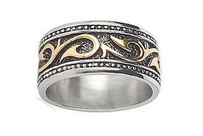 Womens Celtic Ring Gold & Silver - Irish Tribal Jewelry / Tribal Rings For Women