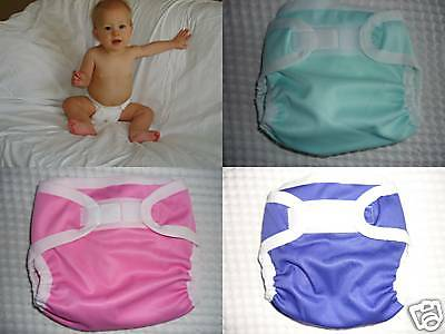 2 small WATERPROOF PUL NAPPY/DIAPER COVERS-pink or purple