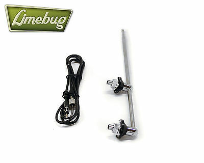 VW Chrome Twin Post Antenna Aerial Radio Classic Ariels T1 Beetle T2 Bay T3