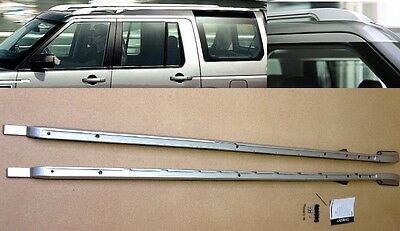 DISCOVERY 3 & 4 EXTENDED ROOF RAIL IN SILVER GENUINE LAND ROVER STLYE VPLAR0075