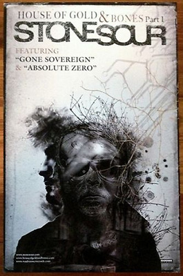 STONE SOUR House Of Gold And Bones Part 1 Ltd Ed Discontiued RARE Poster! Metal