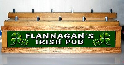 (COLOR LEDS) Lighted IRISH PUB beer tap handle display / PERSONALIZED / HOLDS11