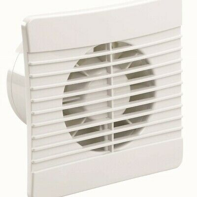 "Low Profile Fan - 4 inch/100mm White Slimline Bathroom Extractor 4"" c/w Shutter"