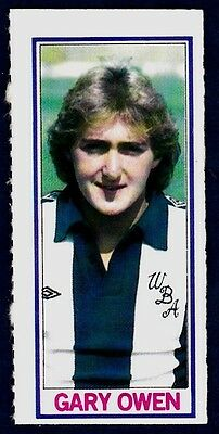 Topps-1981-Footballers- #113-West Bromwich Albion-Manchester City-Gary Owen