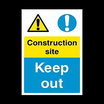 Construction Site Sign & Sticker All Sizes All Materials Free P+P (Css8)