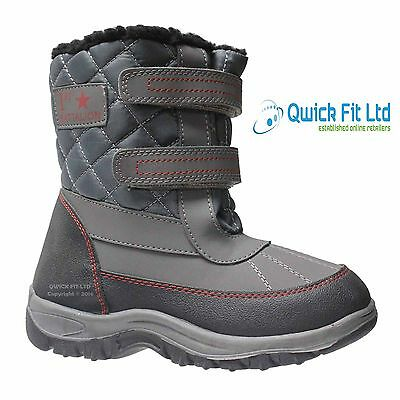 Boys Winter Apres Snow Moon Mucker Boots Warm Thermal Fur Wellingtons Wellies
