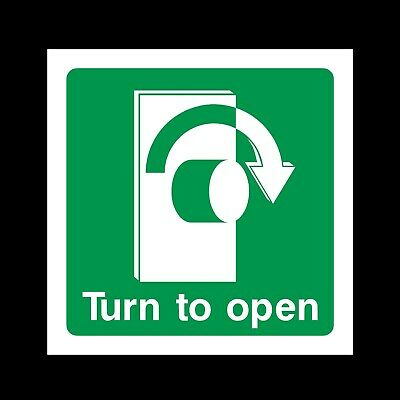 Turn To Open Right Signs & Stickers All Sizes! All Materials! Free P+P (Ee41)