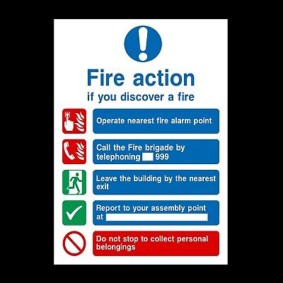 Fire Action Belonging Signs & Stickers All Sizes! All Materials! Free P+P (Fa14)