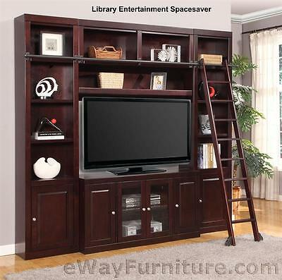 Parker House Boston Library Entertainment Spacesaver Wood Living Room  Furniture