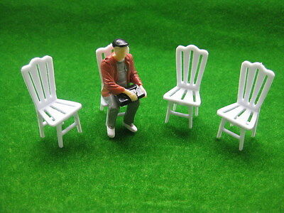YZ2503 8pcs Model Railway Layout 1:25 Garden Chair G Scale NEW
