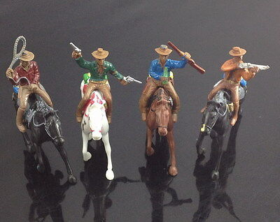P2504 Moldel 1:25 Painted Figures Horses WESTERN VINTAGE COWBOY Knight G Scale